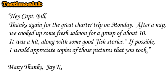 GREAT FISHING CHARTER TRIP! Fresh SALMON - LARGE FISHING GROUPS