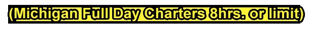 Michigan Full Day Fishing Charters