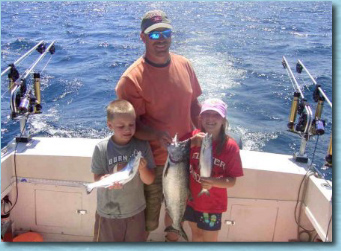 GREAT FISHING CHARTER TRIP! Fresh SALMON - FAMILY, FISHING TRIPS
